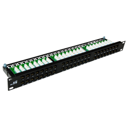 Patch panel OPTIMUM UTP kat.5e 48 portów LSA 1U